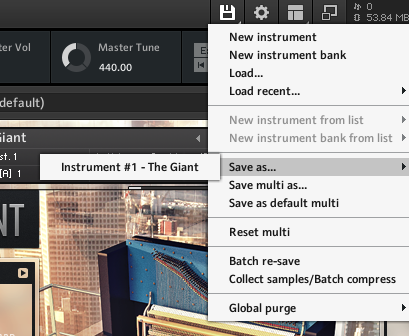Kontakt, Saving sampled instrument in new location
