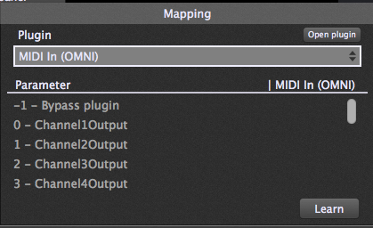 Gig Performer, OMNI MIDI IN plugin mapping