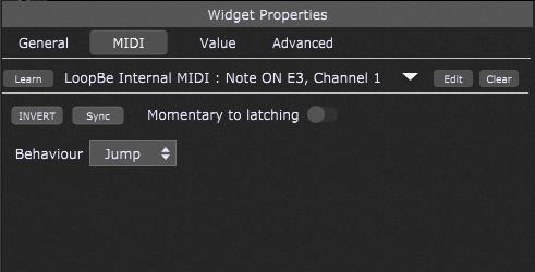 Widget Properties Note On event in Gig Performer