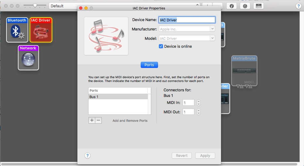 MacOS, create IAC Driver