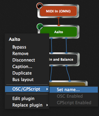 Aalto plugin, completely bypassed when the gain is sufficiently low, GPScript name
