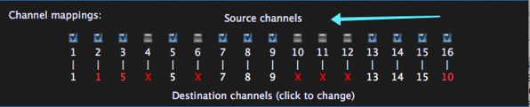 Remap incoming events on one channel to another channel or block certain channels.