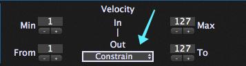 Velocity Constraining, MIDI in plugin block, Gig Performer