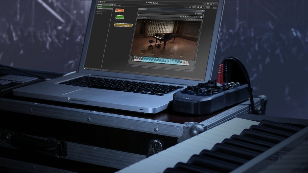 Gig Performer, audio plugin host software in live use, Piano VST plugin