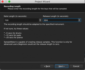SampleRobot, Recording Length