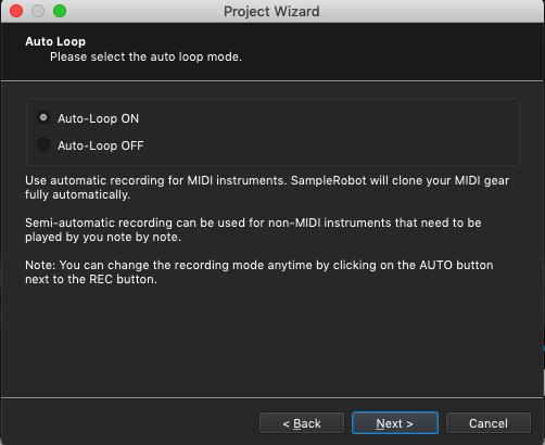 Kontakt plugin, SampleRobot Project Wizard, Auto Loop mode