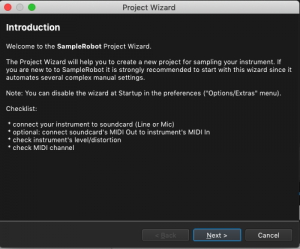 SampleRobot Project Wizard, Intro