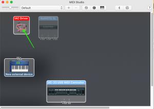 Inter-Application Communication, MIDI ports, IAC Driver, MIDI Studio