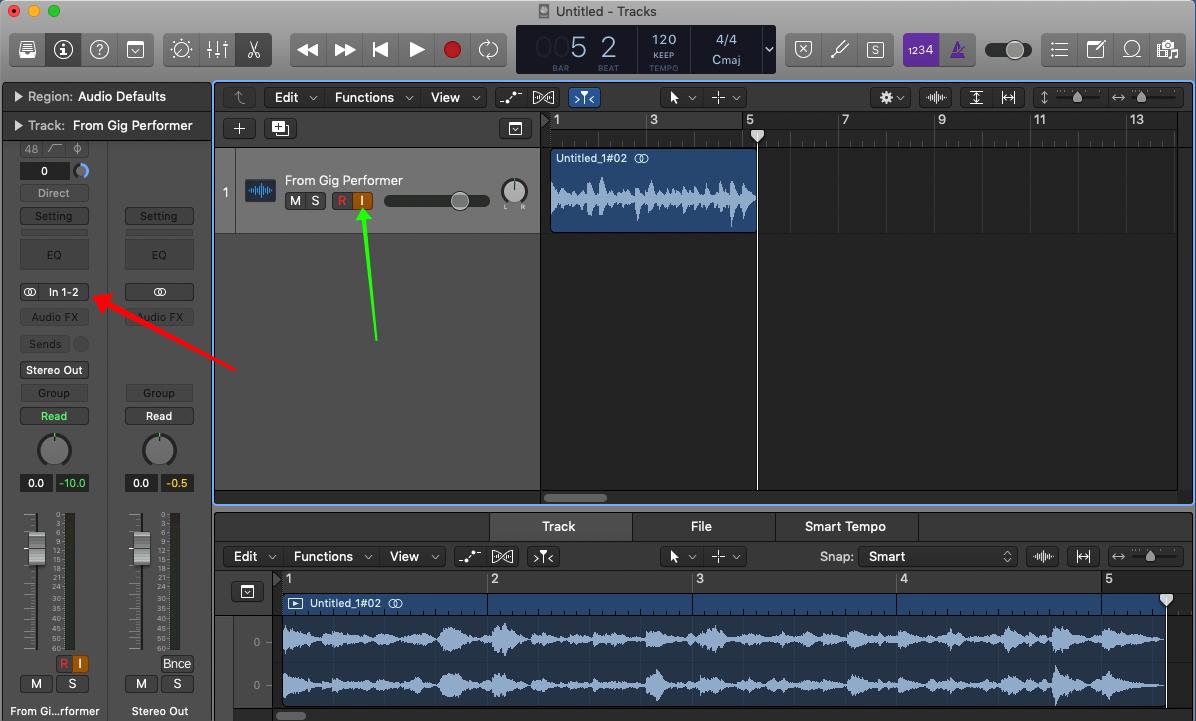 Logic Pro X, record