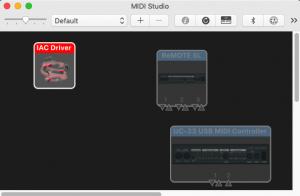 MIDI studio, MIDI setup, IAC driver