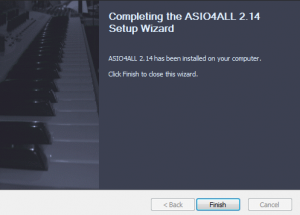 Completing the ASIO4ALL 2.14 Setup Wizard
