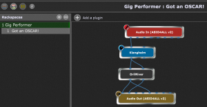 Gig Performer, Back View Layout, Connect free VST plugins