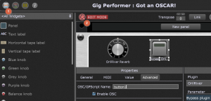 Gig Performer Front View of the Rackspace