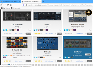 KVRaudio free VST VST3 AU AAX plugins Windows and Mac, Gig Performer