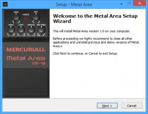 Mercuriall Metal Area MT-A Setup Wizard, Windows
