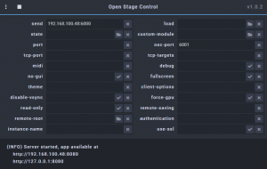 Open-Stage-Control-Server-Running