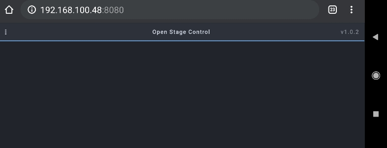 Open Stage Control Smartphone Screenshot, OSC