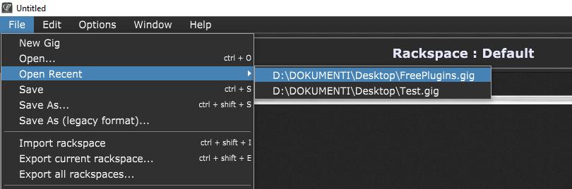 Reload the Gig file in Gig Performer Windows 10