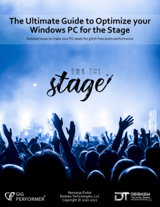 The Ultimate Guide to Optimize your Windows PC for the Stage