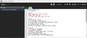 Chord Editor in Gig Performer, Edit Chordpro files