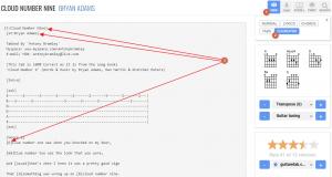 Chordie website View ChordPro format, Gig Performer