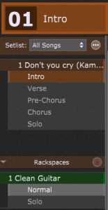 Setlists, Song with song parts