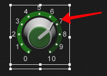 Note the pointer and the ring around the knob, Widget scaling in Gig Performer 4
