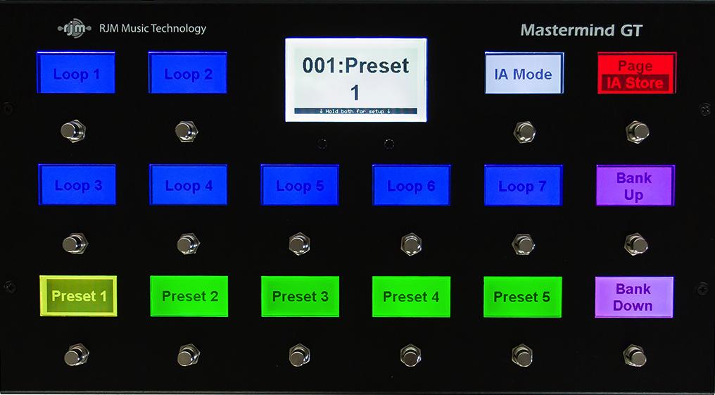 RJM Music Technology Mastermind GT MIDI Pedalboard