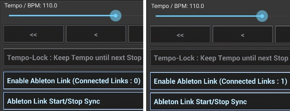 G-Stomper Rhythm, enable Ableton Link. When Gig Performer connects, it states Connected Links: 1