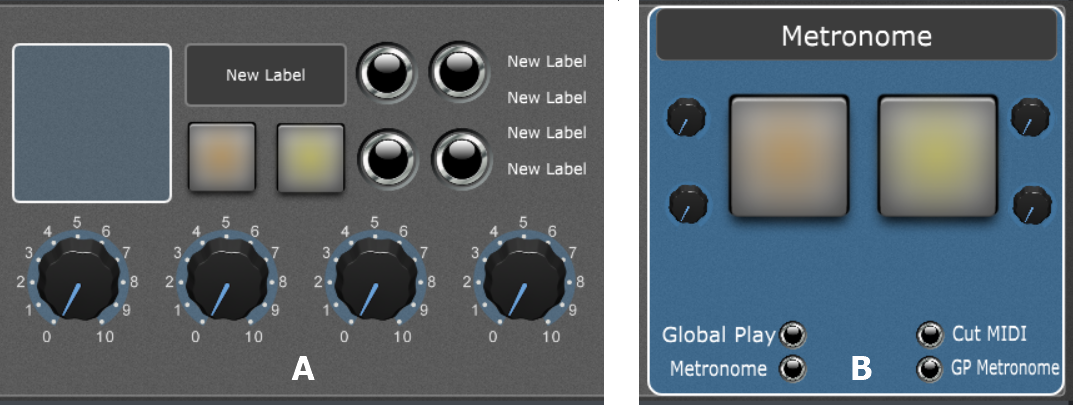 Custom Metronome with the visual feedback, designing panel and widgets in Gig Performer