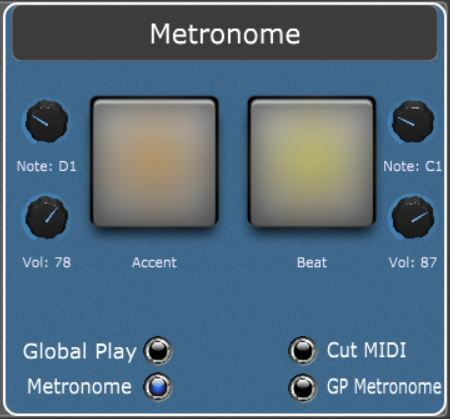 Custom Metronome with Visual Feedback using the System Actions plugin in Gig Performer