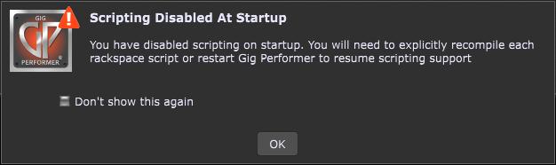 Gig Performer Scripting Disabled At Startup